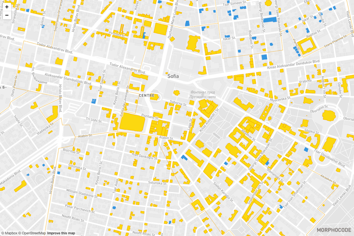 Mapping cultural heritage in the city of Sofia  A project by Morphocode