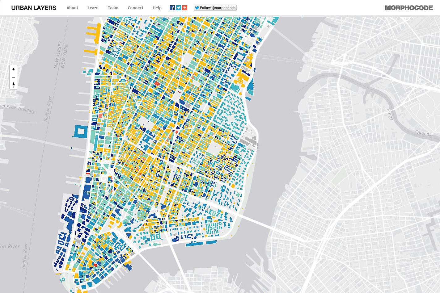 Urban Layers Explore the structure of Manhattans urban fabric – Manhattan Interactive Map