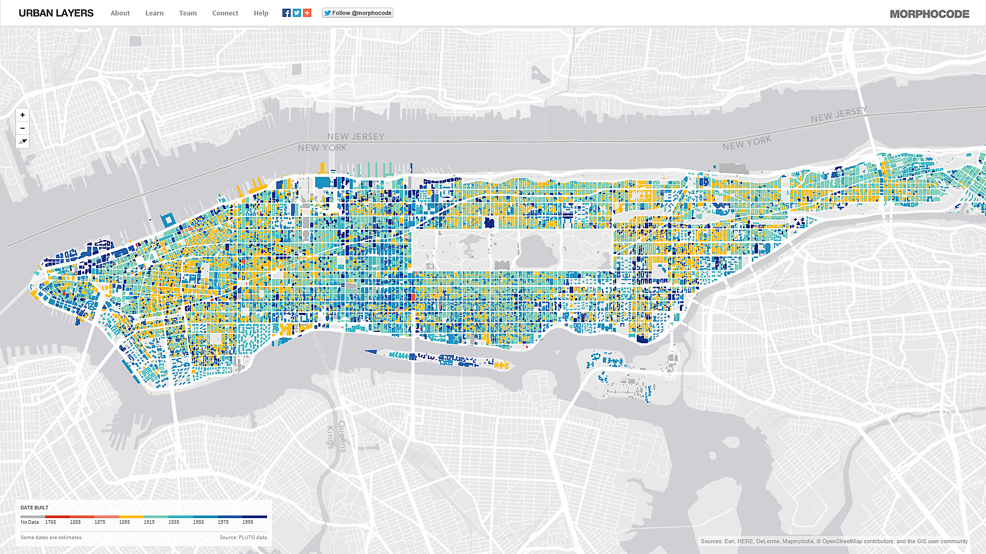 Urban Layers Explore The Structure Of Manhattans Urban Fabric - Nyc map wallpaper