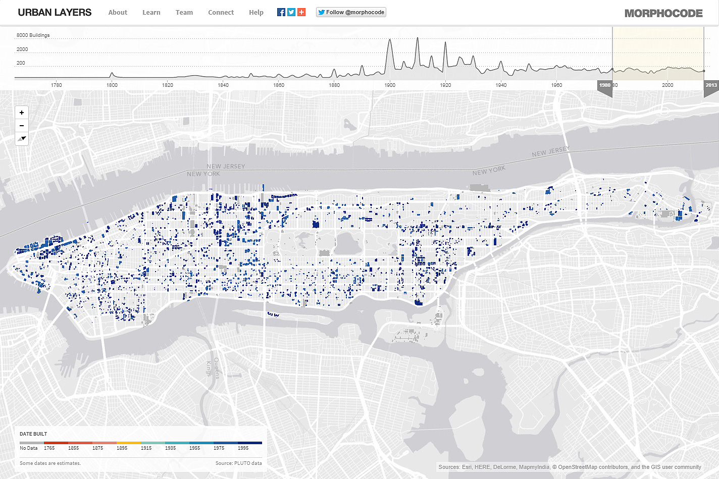 Urban Layers  Explore the structure of Manhattan's urban