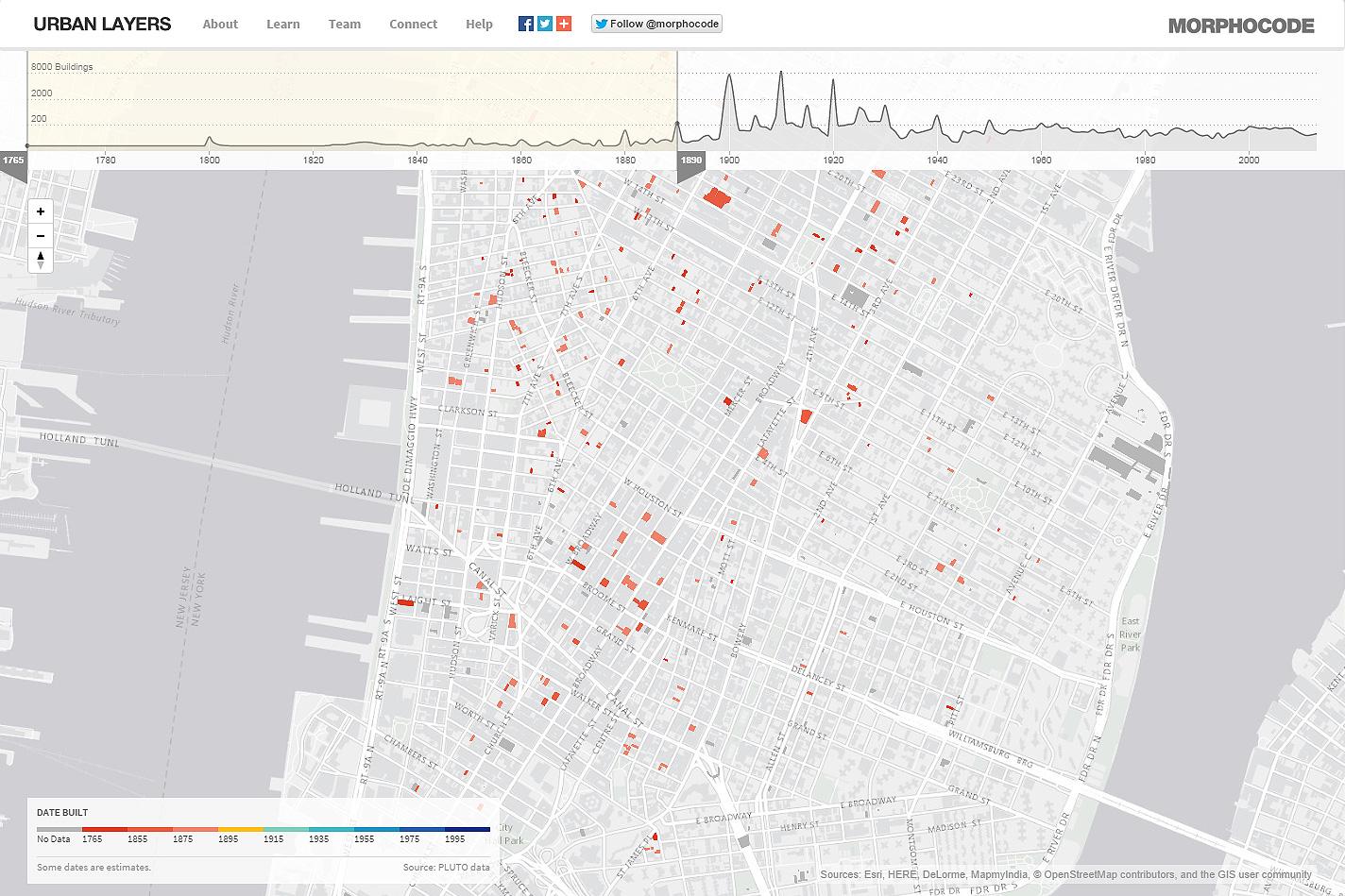 Urban Layers  Explore the structure of Manhattan's urban fabric